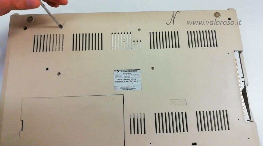Commodore Amiga 500 A500 smontare floppy disk drive viti a stella