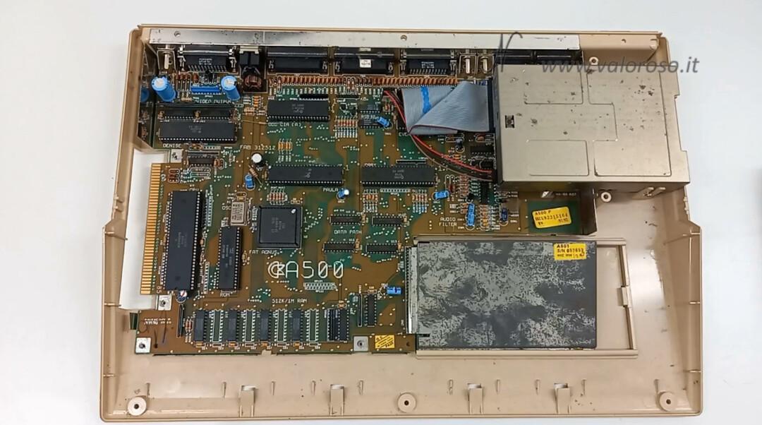 Commodore Amiga 500 interno scheda elettronica scheda madre PCB Gary Paula Denise Fat Agnus A500