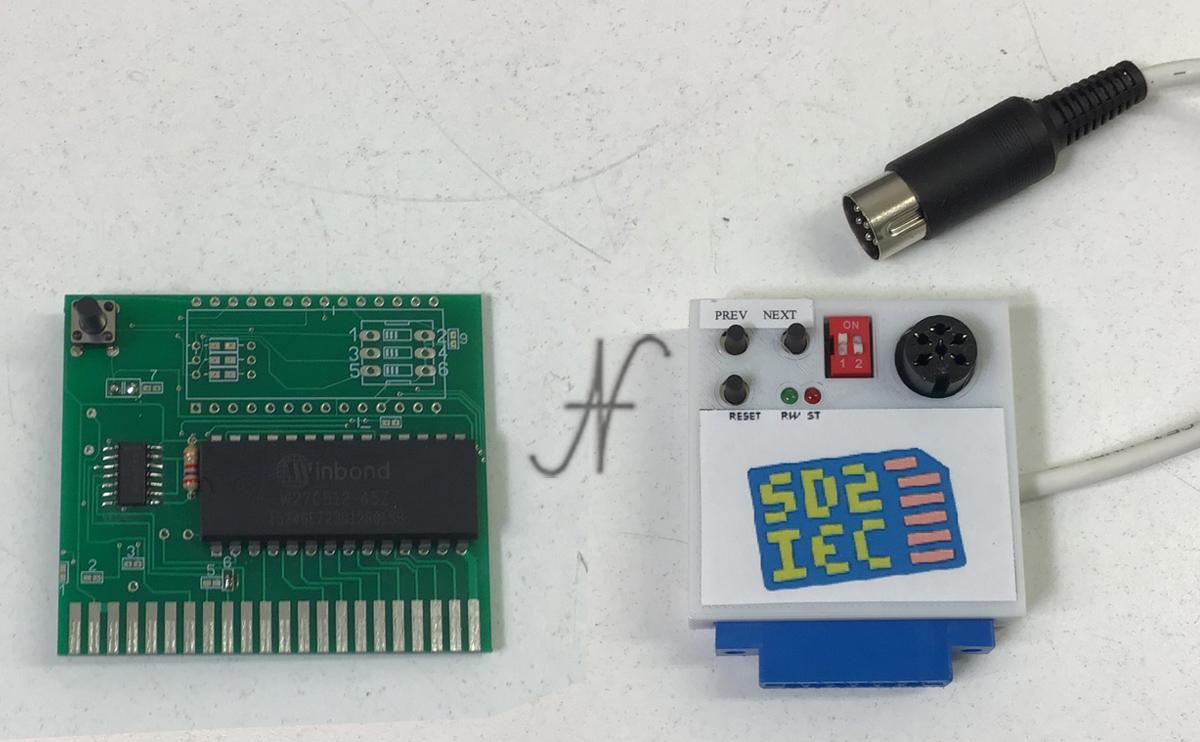 Commodore SD2IEC, emulatore floppy 1541 con microSD, seriale, fastload winbond