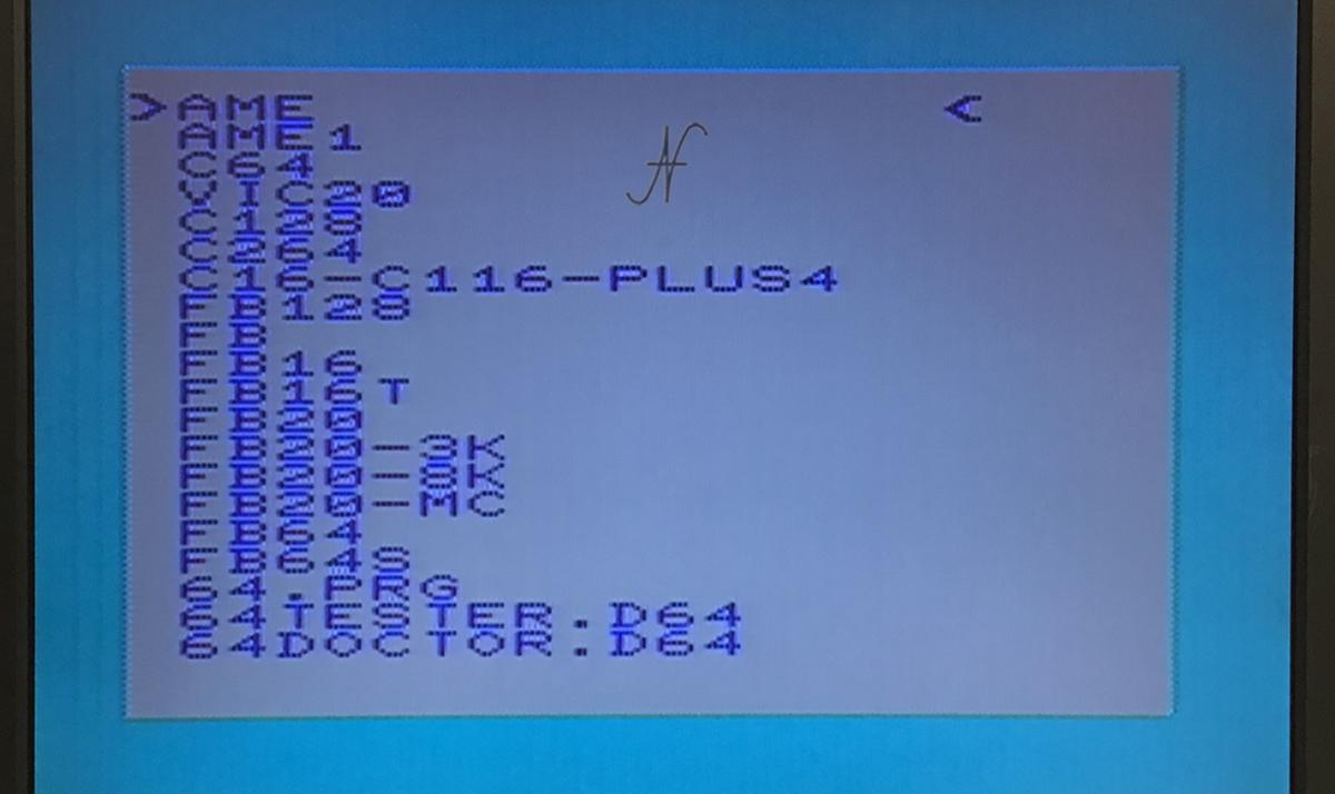Commodore Vic20, SD2IEC, elenco cartelle