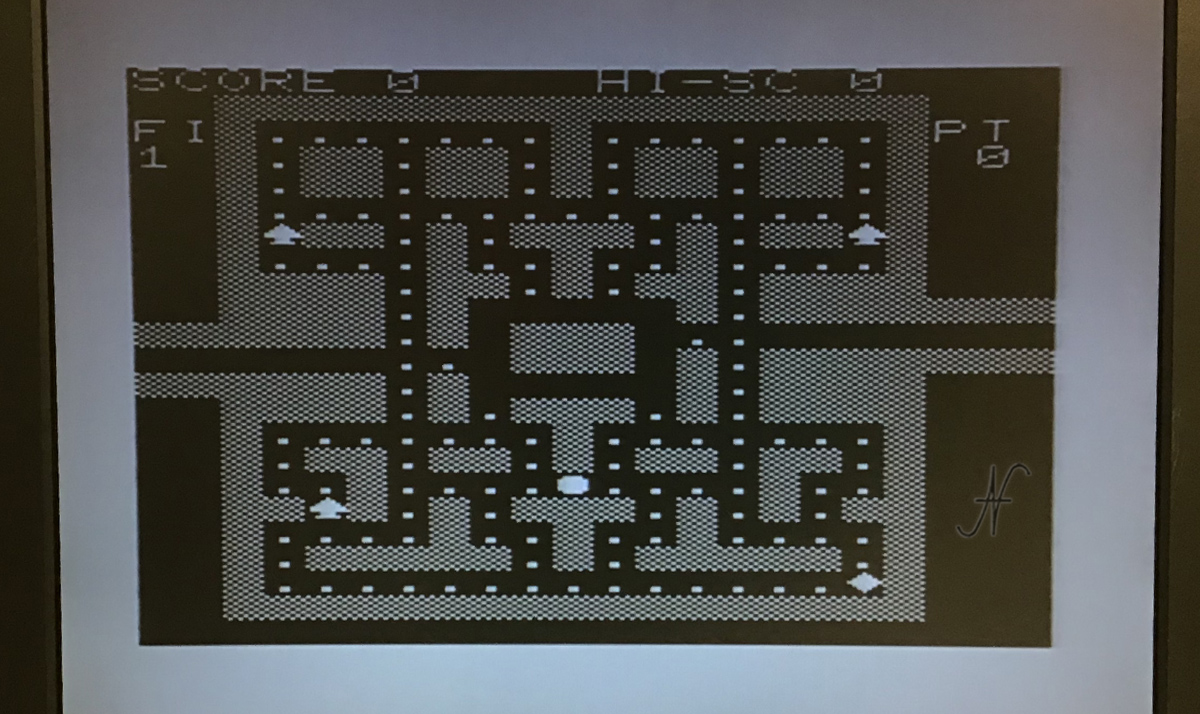 Commodore Vic20 unexpanded, pacman PRG videogame