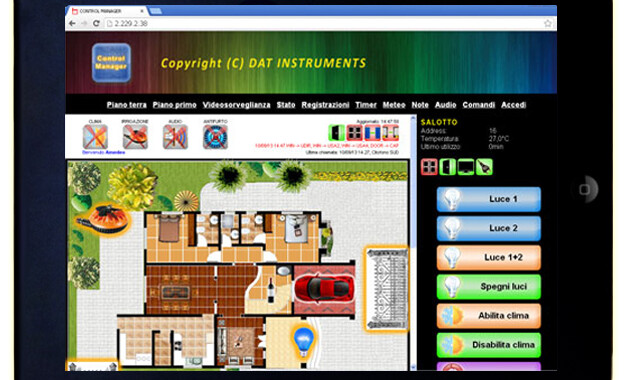 Control Casa, Control Manager, iPad, home automation, domotica, piantina, building automation