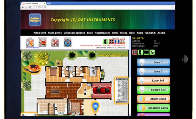 Control Casa, Control Manager, iPad, home automation, domotica, piantina, building automation