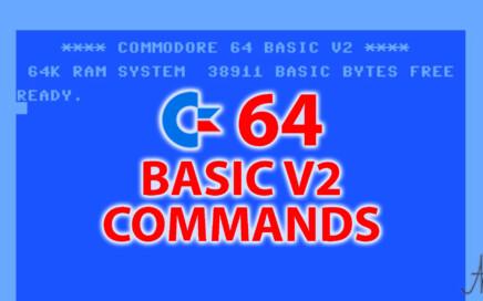 Copertina Corso Basic, lista comandi elenco compendio comandi istruzioni funzioni Basic V2 Commodore 64