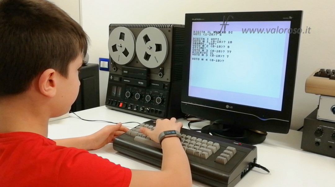 Videocorso sul Linguaggio Basic Commodore QB64, rendimento scolastico insulti valore massimo max minimo min medio sequenza di numeri
