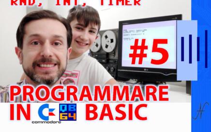 Corso per imparare a programmare in Basic Commodore 5, QB64 GWBASIC DOSBOX INT RND TIMER funzione, 16 64 128 C64 C16 Vic20 Vic-20 C128 Plus4