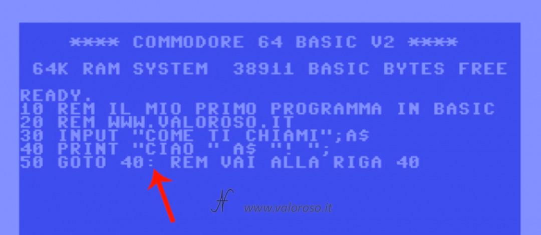 """Dividere istruzioni comandi stessa riga due punti, """":"""", Corso tutorial programmazione linguaggio Basic Commodore, Commodore 16, Commodore 64, Commodore 128, Commodore PET, Commodore Plus4, Commodore Vic20, C16 C128 C64, IBM DOS MicroSoft GWBASIC"""