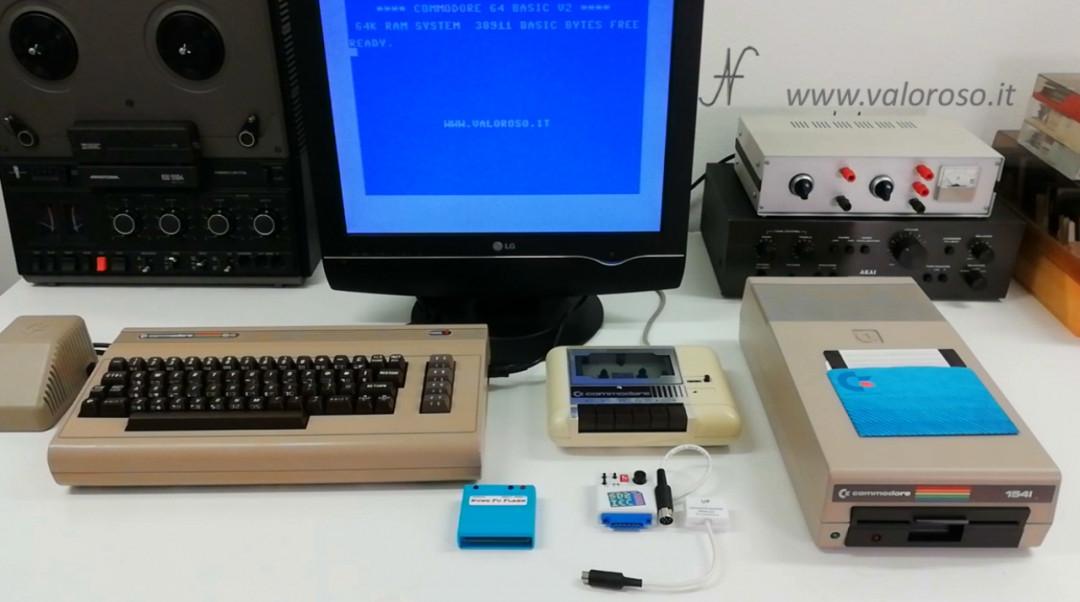 Corso programmazione Basic Commodore 2, salvataggio file su SD2IEC, floppy disk drive Commodore 1541, SD2IEC, datassette tape, LOAD SAVE