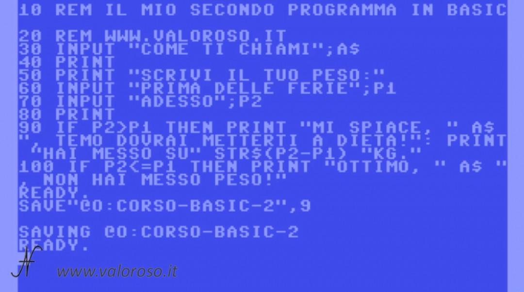 Corso programmazione Basic Commodore 2, sovrascrivere salvare un file SD2IEC emulatore MicroSD, SD, opzione @O: