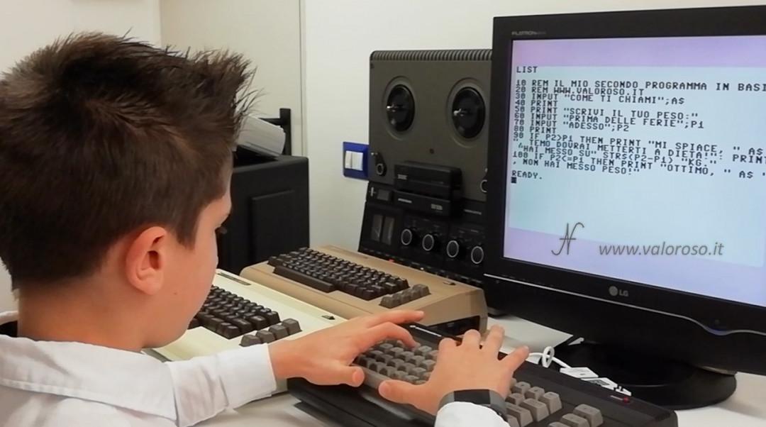 Corso programmazione linguaggio Basic Commodore 2, C16 IF THEN REM PRINT INPUT