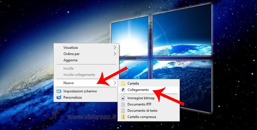 Come creare un nuovo collegamento sul desktop di Windows 10