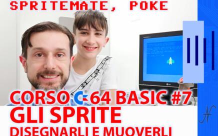 Creare uno sprite e muoverlo con il Commodore 64 SpriteMate, in Basic, POKE