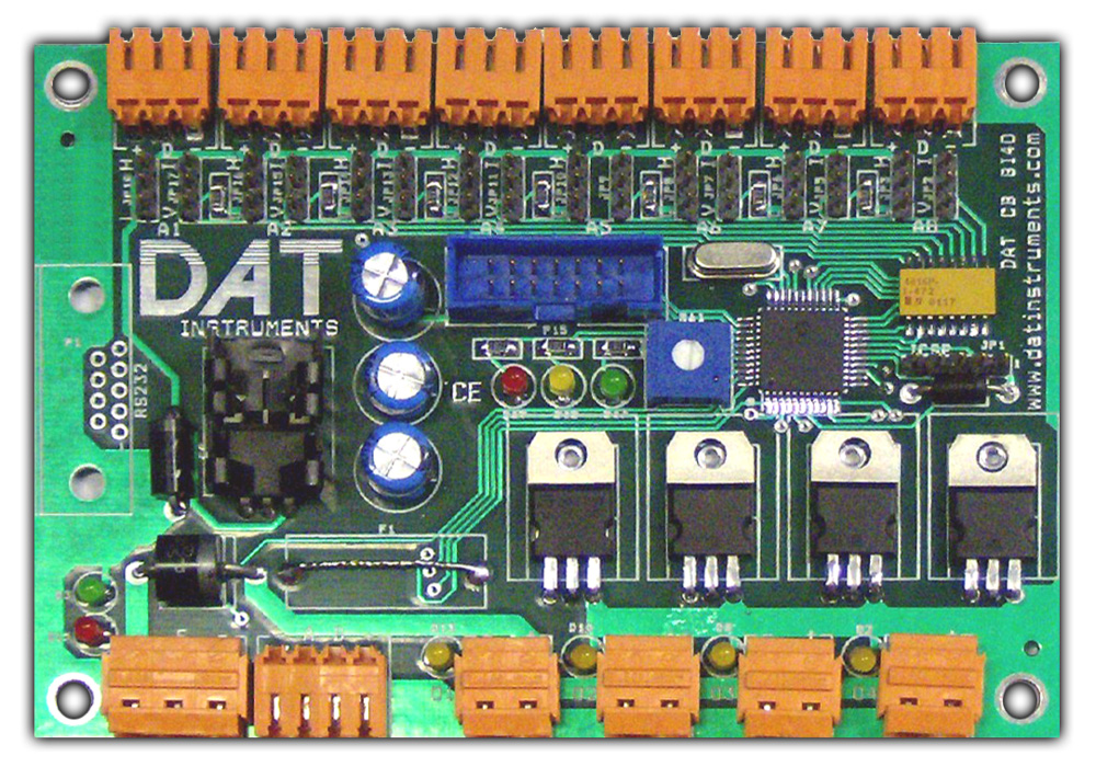 DAT CB 8I4O, DAT instruments, PLC, 8 inputs 4 outputs, by Amedeo Valoroso