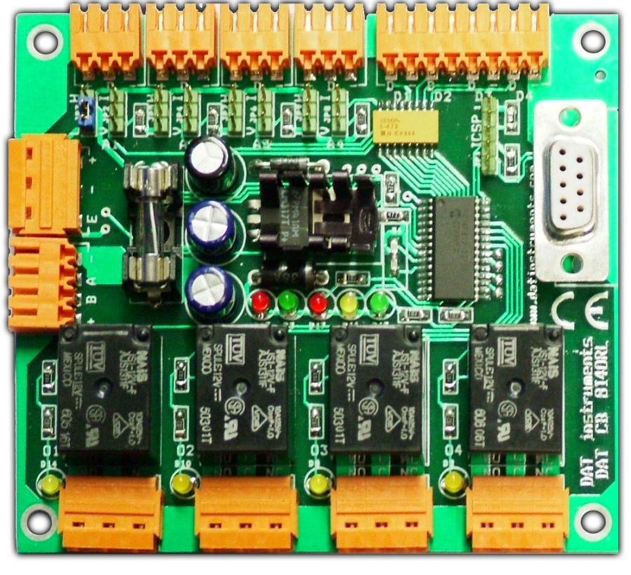 DAT CB 8I4ORL, DAT instruments, PLC, 8 inputs 4 relay outputs, DAT CB programmable controllers, by Amedeo Valoroso