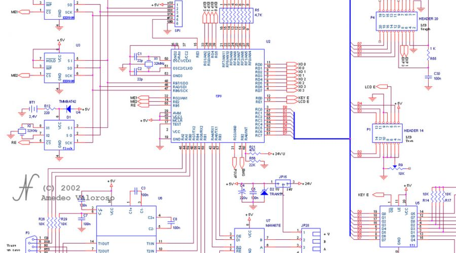 DAT CB CPU, DAT instruments, programmable logic controller schematic, DAT CB programmable controllers, by Amedeo Valoroso