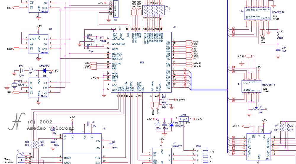 DAT CB CPU, DAT instruments, programmable logic controller schematic, by Amedeo Valoroso