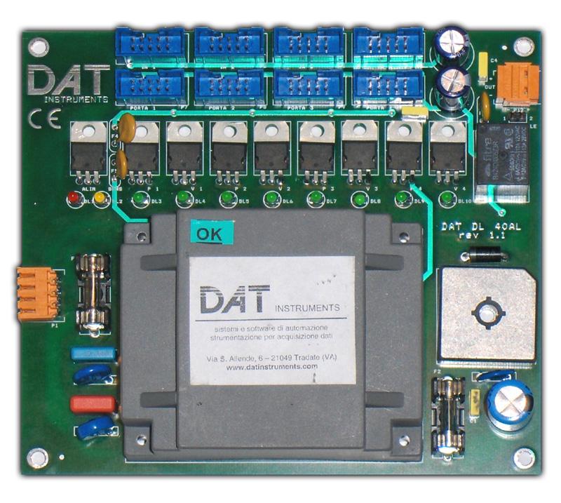 DAT DL 40AL, JET 4000 AME datalogger, alimentatore