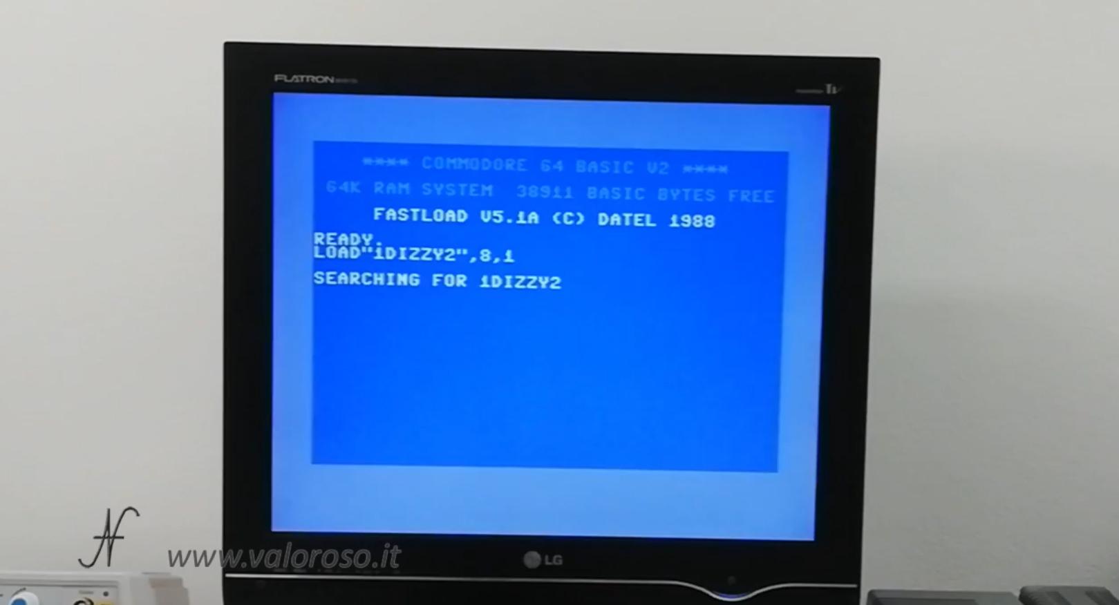 Datel Action Replay, Commodore 64, disk load 1541, caricamento videogioco da floppy disk drive 1541, fastload