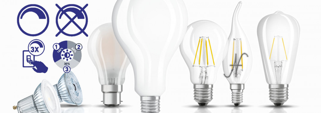 Dimmerare una lampadina a LED, dimmerabile 3 step variare luminosità dimmer variatore, intensità luminosa
