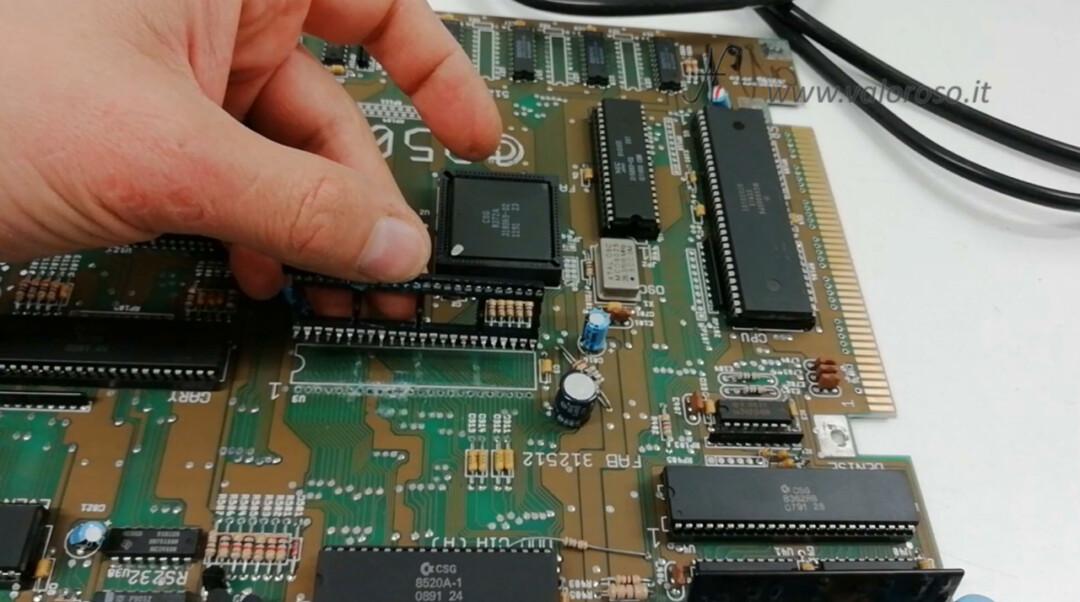 Dissaldare rimuovere togliere zoccolo integrato chip PCB ossidato corroso marcio