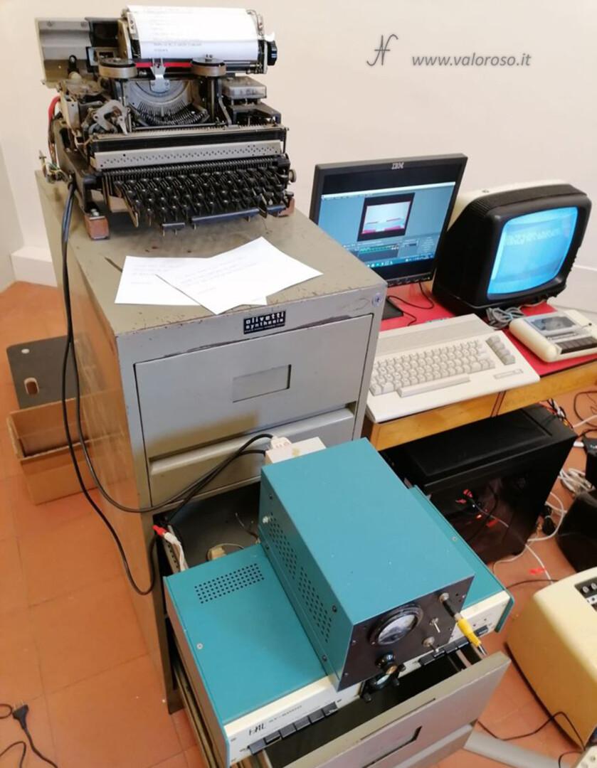 Divina! installazione artistica, Dante Alighieri Divina Commedia, Retro Printer Commodore 64 telescrivente VB6 ValorosoIT, Università di Pisa, Marco Cisaria