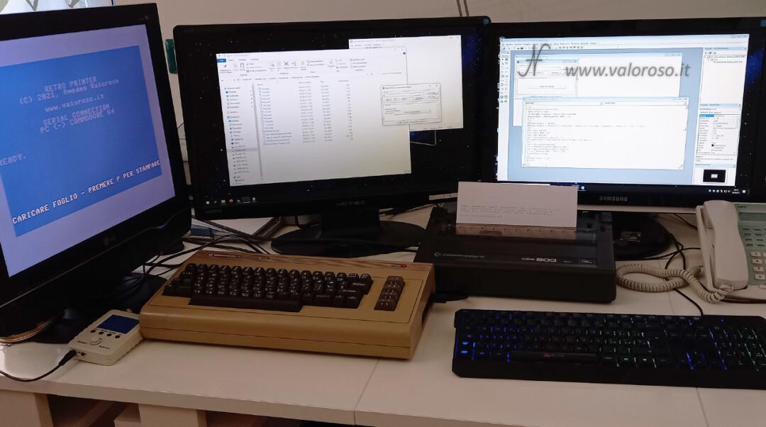Divina! Retro Printer ValorosoIT Commodore 64 telescrivente VB6