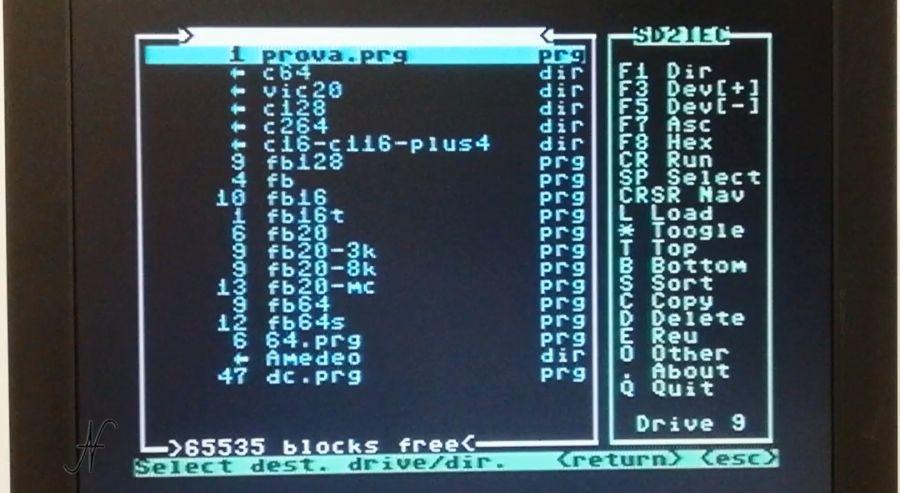 DraCopy by Draco, C copia file, copy, F3 selezionare drive destinazione, copiare file, Commodore 64