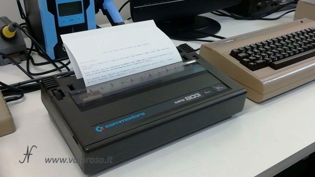 EasyScript Commodore 64, Commodore MPS803, dot matrix printer, ink, print, print