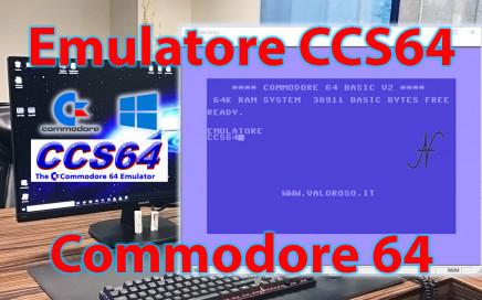 Emulatore CCS64, eseguire avviare programmi giochi utility per Commodore 64 su PC Windows 10
