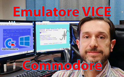 Emulatore VICE eseguire programmi giochi Commodore 64 128 16 Vic-20 PET su Windows 10, C128, C16, C64