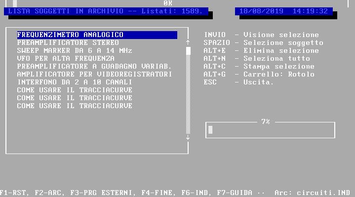 INDIRIZZ, Amedeo Valoroso, programma di archiviazione, database, GwBasic, TurboBasic, soggetti in archivio