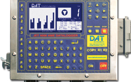 DAT instruments, JET 4000 AME I, datalogger, grouting, Lugeon tests, GIN, Permeability, Pressure, Flow, Volume, LCD, computer, keyboard, pen drives