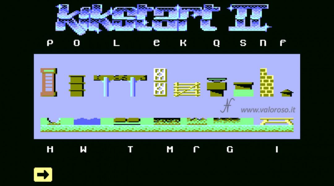 KikStart 2 KickStart II Kik-Start videogioco Commodore 64 impostare creare costruire elementi pista gara corse, ostacoli