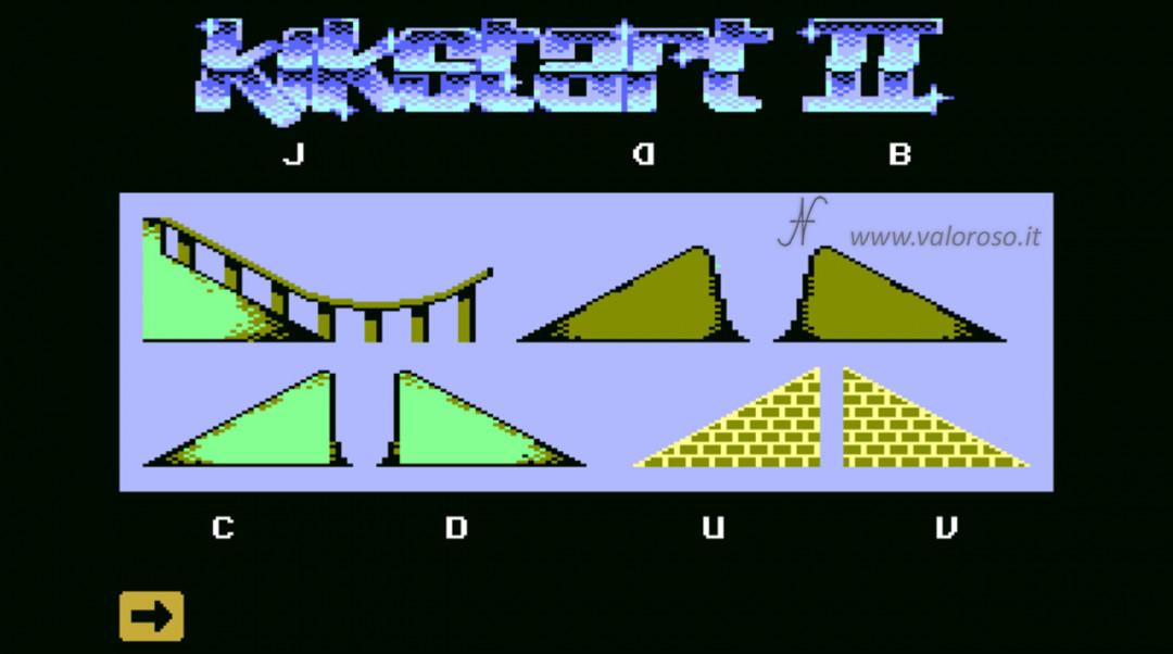 KikStart 2 KickStart II videogioco Commodore 64 impostare creare costruire piste gare ostacoli circuiti