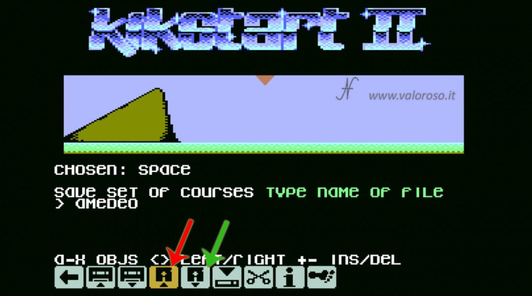 KikStart 2 KickStart II Kick-Start videogioco Commodore 64 load save courses set caricare salvare piste corse