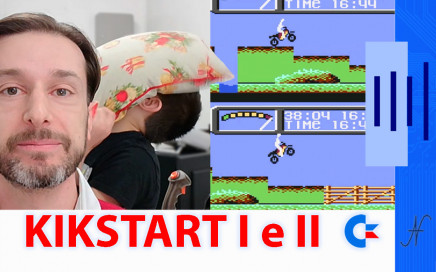 KikStart 2 KickStart II videogioco Commodore 64 motocross game, Shaun Southern, Mr. Chip Software, MasterTronic