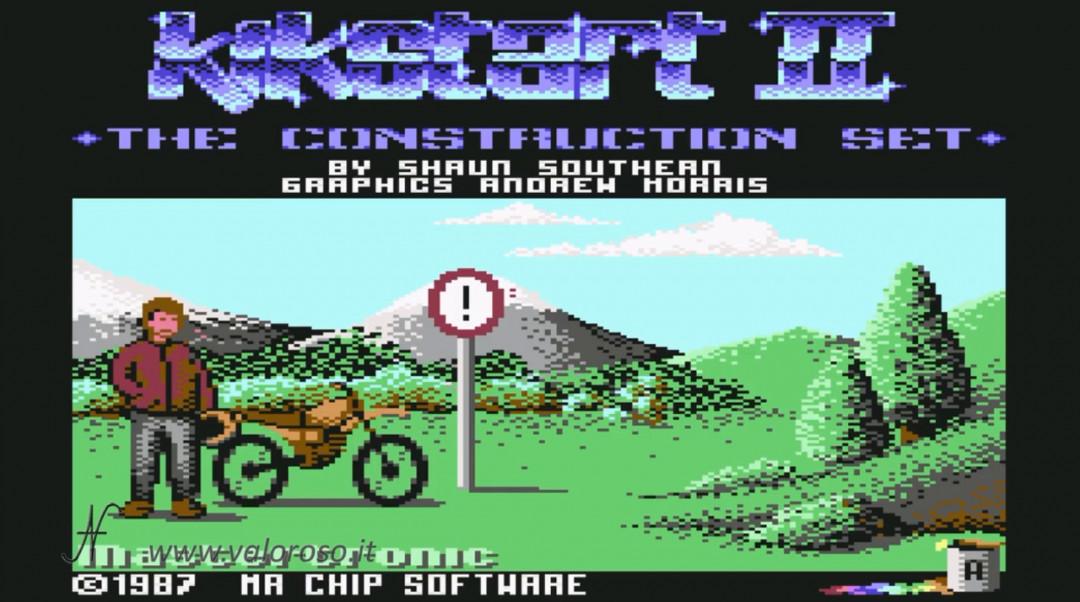 KikStart 2 KickStart II Kick-Start Kik-Start videogioco Commodore 64 motocross vintage moto motociclette trial retro game garaShaun Southern, Mr. Chip Software, MasterTronic