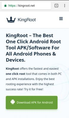 Root Android mobile phone, download Kingroot, download APK from site