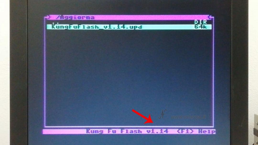 Kung Fu Flash aggiornamento firmware, Commodore 64, nuova ultima versione, aggiornamento completato