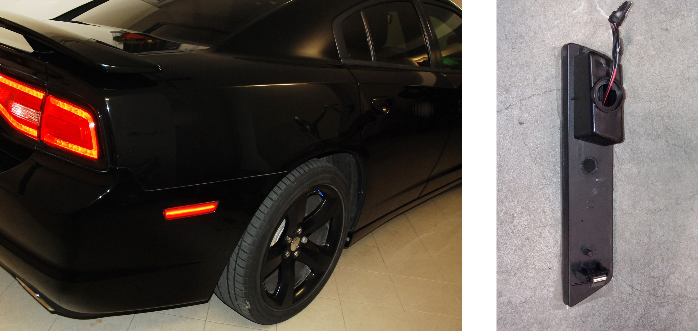 Dodge Charger, fanali laterali, side markers, calcolo corrente LED, resistore, resistenza