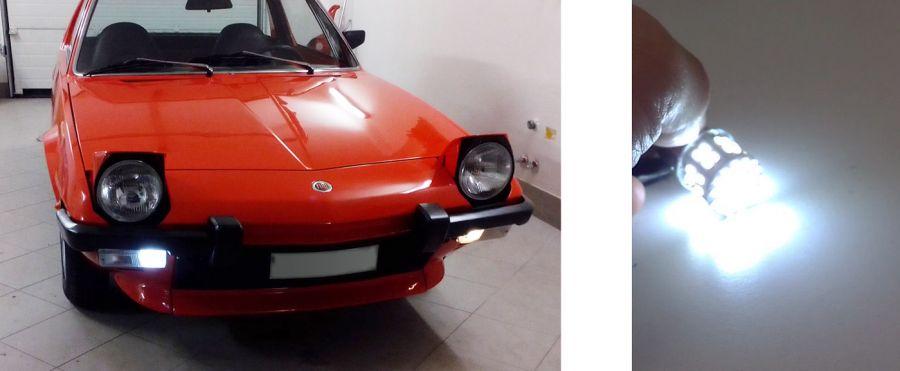 Fiat X1/9, Bertone, luci di posizione a LED, indicatori direzione, frecce