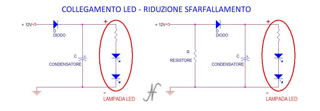 Lampadina a LED, riduzione sfarfallamento, sfarfallio, flickering, tremolio, PWM, automobili, Amedeo Valoroso, luci posizione, retromarcia