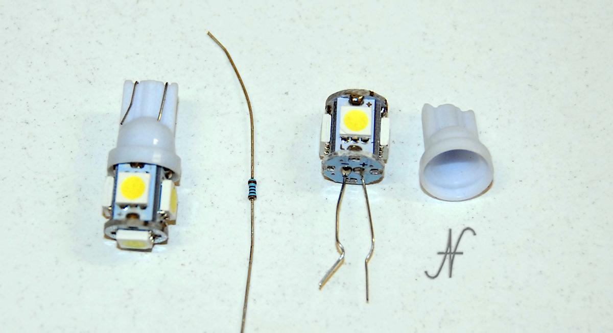 Lampadina a LED difettosa, luce di posizione, T10 W5W