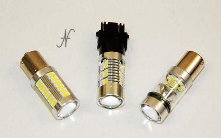 Lampadine a LED per automobili, retromarcia, luci di posizione, frecce, T20, W21W, BA15S, BAU15S, funzionanti