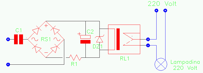 LPTEL, ripetitore di suoneria telefonica, lampadina, schema elettrico, Amedeo Valoroso, SIP, telecom, linea telefonica