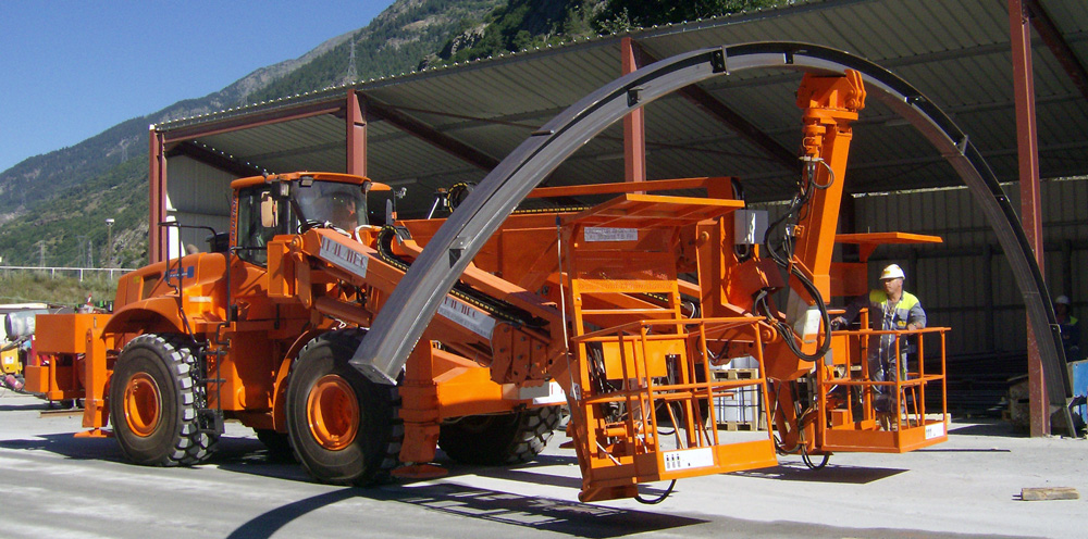 DAT X2, Lifter for tunneling, centre layer boom, platforms, on digger, Italmec, DAT instruments, Amedeo Valoroso