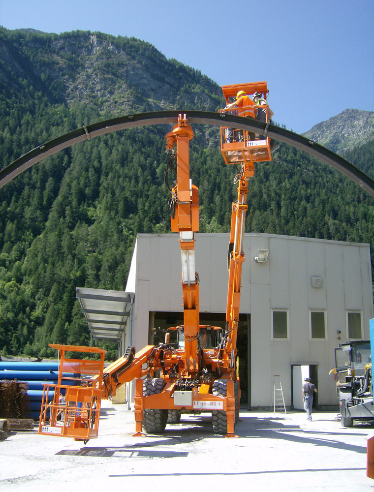 DAT X2, Lifter for tunneling, centre layer, on digger, centre lifting, Italmec, DAT instruments, Amedeo Valoroso