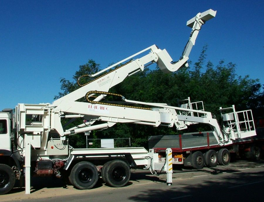 DAT X2, Lifter for tunneling, centre layer, on truck, Italmec, DAT instruments, Amedeo Valoroso