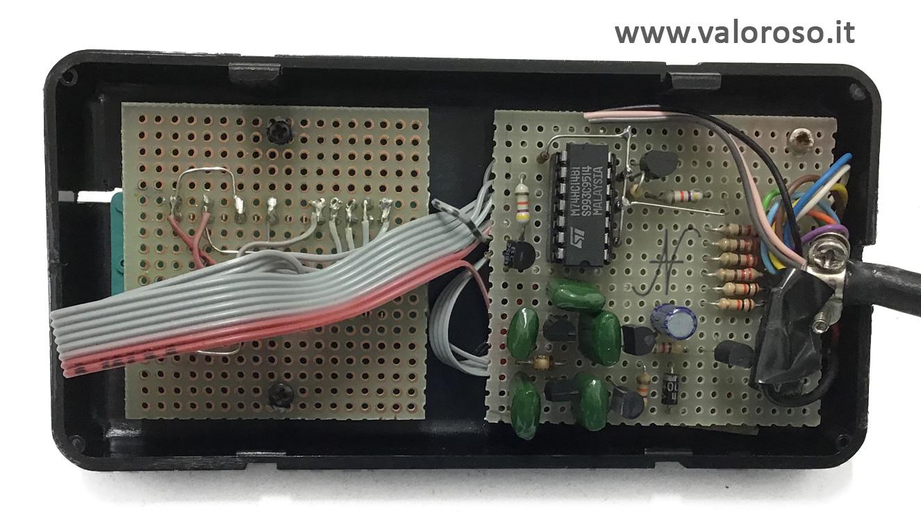 MPLEX, interfaccia LPT, textool, circuito, millefori, sonda per porte logiche, porta LPT, QBasic, QuickBasic