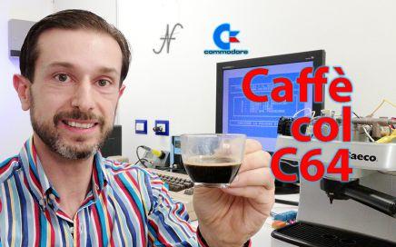 Macchina da caffè comandata dal Commodore 64, Saeco, espresso, user port, rele fotoaccoppiatori